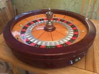Cammegh Full Size 80cm Professional Grade Casino Roulette Wheel, Great Cond - With Serial Number