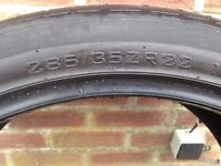 285/35/22 tyre good tred ideal spare no punctures or repairs bargain £30