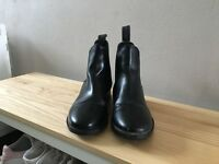 Short black riding boots