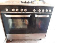 Kenwood double gas oven with wok ring