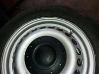 3x t5 vw transporter wheels and bumper