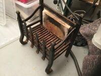 Vintage metal fire basket