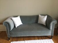 Antique velvet chesterfield sofa