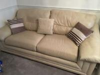 Leather Sofas, Cream, 3+2 Seater, Purchased from Land of Leather