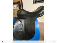 "Black leather IDEAL VSD saddle -17"""