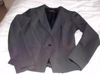 Versatile grey Reiss business trouser suit, small size