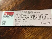 Al Murray - Pub Landlord at the Edinburgh Fringe 14/08/2016 @18.45pm