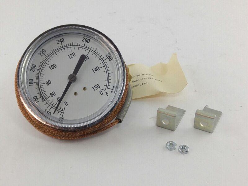 "NINETECH 39512116 Temperature Gauge 0-115C 30-300F & 2-1/4"" Probe"