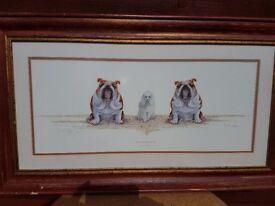 print framed amusing dog picture