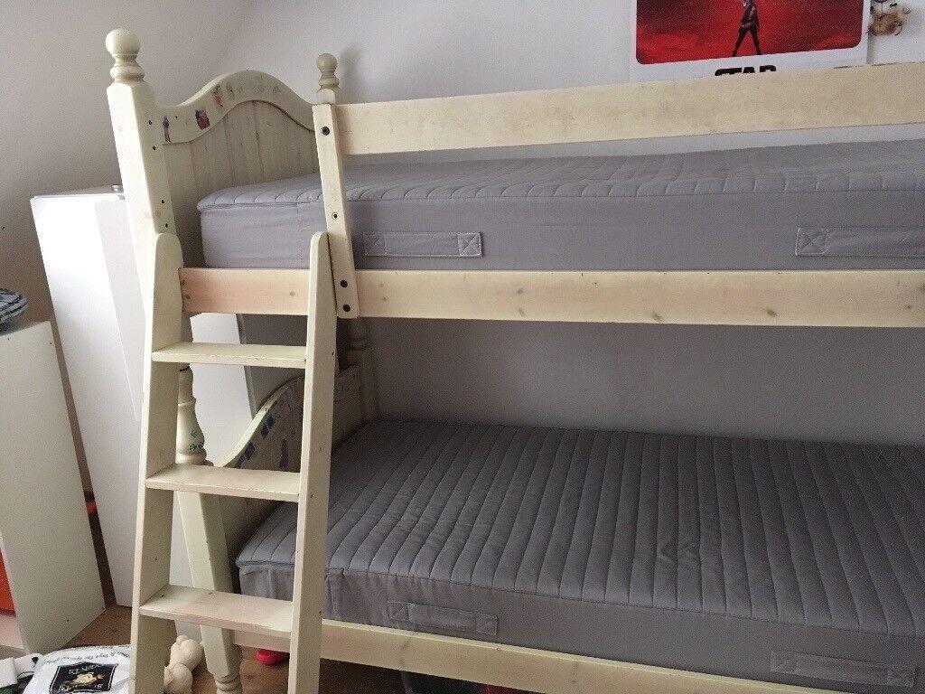 Bunk Beds Aspace Jack Jill Antique White 2 Full Size Singles