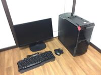 Gaming Computer PC Complete Setup, with 22 inch Monitor (Intel i7, 6GB RAM, Radeon Graphics)