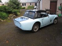 MIDGET/SPRITE BREAKING FOR SPARES. INCL CHOICE OF TWO HARDTOP AND '65 BODYWORK