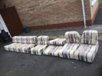 Caravan campervan interior cushions
