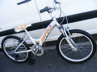 """FALCON GIRLS 20"""" WHEEL FRONT SUSPENSION BIKE IN GREAT WORKING ORDER AGE 7+"""