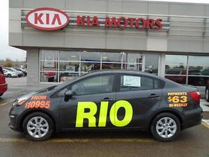2016 Kia Rio LX+ $84* Bi-weekly! NEW VEHICLE/FULL WARRANTY