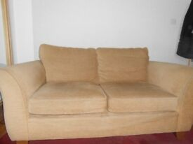 M&S Abbey 2 seater sofa in gold