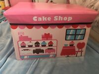 Girls pink cake toy chest - great condition