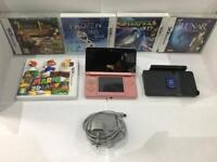 Nintendo 3ds Coral Pink - With 5 games