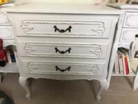 Beautiful shabby chic off white chest of drawers