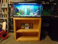 For sale Juwel 90 litre Fish tank/aquarium with stand, CD/DVD storage unit