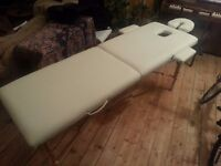 beautiful cream leather Massage Table