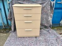 Solid Malm 4 drawer chest Delivery Included)