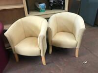 Beige Tub Chairs