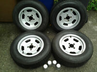 Classic Wolfrace Alloys with Tyres 13inch