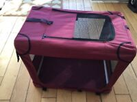 Canvas cat and dog kennel