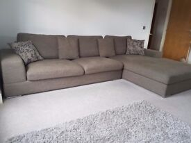 Dwell Verona Right Hand Corner Sofa in Mocha