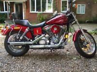 harley davidson 1340 dyna last of the 1340s 20,000 miles 1998 sreg custom paint