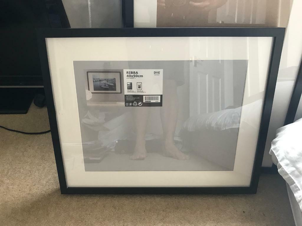 Ikea Ribba Frame Glass: Bilderrahmen holz glas ex ikea ribba in ...