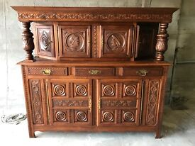 ANTIQUE FRENCH MID 20TH C CARVED VERY LARGE SIDEBOARD/BUFFET