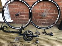 Shimano Sora complete group set and Axis 1.0 wheel set, road bike