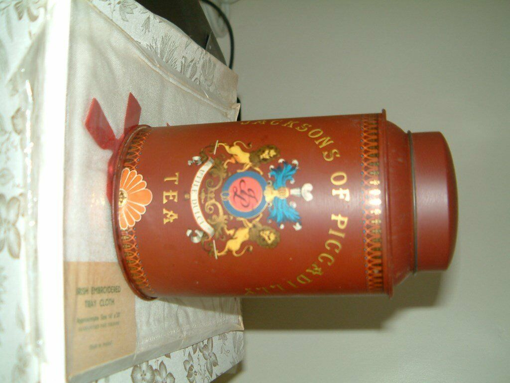 Jacksons of Piccadilly Tea Caddy Tin, In very good cond