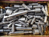 Assorted screw driver bits and sockets