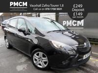 VAUXHALL ZAFIRA TOURER 2013 1.8 EXCLUSIVE - 7 SEAT PEOPLE CARRIER - LONG MOT - galaxy smax 2013