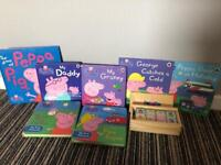 Peppa pig books and domino set