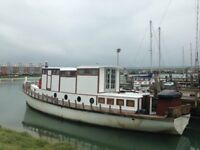 Houseboat - beautiful 52ft converted houseboat in shoreham by sea for sale