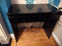 Black gloss desk/ console table
