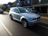 BMW X3 2.0D M SPORT 2008 (57)Silver/Manual/Only 57845 Miles 4 Wheel Drive