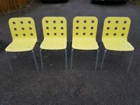 4 Ikea Jules Stacking Office / Kitchen Chairs FREE DELIVERY 441