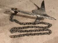 BRUCE TYPE ANCHOR 5kg WITH 2.5m GALVANISED CHAIN BOAT RIB SAILING SPEEDBOAT