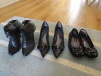 FREE - 3 Pairs Black Woman's Shoes (US size 5.5)