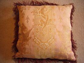 Vintage Silk Brocade Cushion