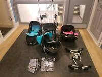 Double pushchair icandy