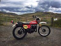 Suzuki TS125 , TS 125cc MotoX Motocross, vintage classic motorbike, full MOT, low mileage