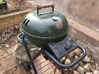 Gas barbecue circular kettle shape (inc. gas cylinders)