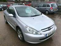 2004 peugeot 307cc convertible with private plate