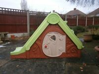 Toddler Outdoor Slide and Playhouse